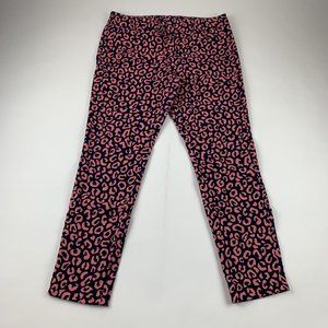 Old Navy Pink Animal Print Pixie Ankle Pant 6